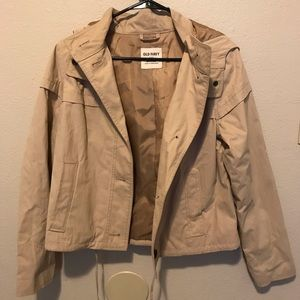 Old navy tan hooded jacket